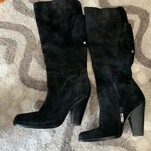 Joan and David suede knee high boots 9.5